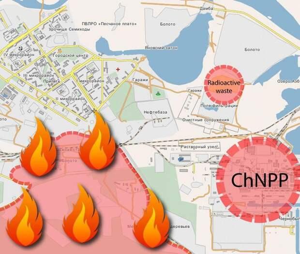 5 фактов о пожаре, который стремительно приближается к Чернобыльской АЭС