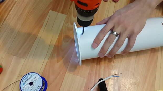 Эффектный светильник из ПВХ трубы своими руками