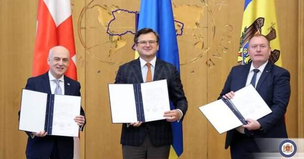 Грузия, Украина иМолдавия договорились осотрудничестве поинтеграции сЕС