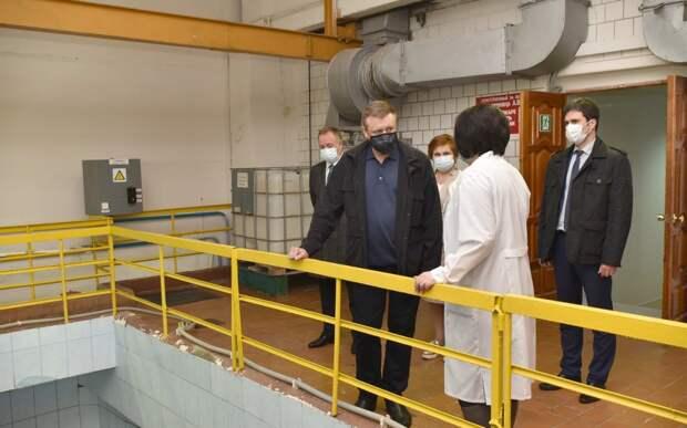 Николай Любимов посетил Окскую очистную водопроводную станцию