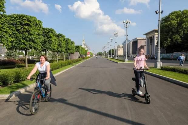 Бесплатное время поездок на велопрокате в Строгине увеличили до 60 минут 3 июня