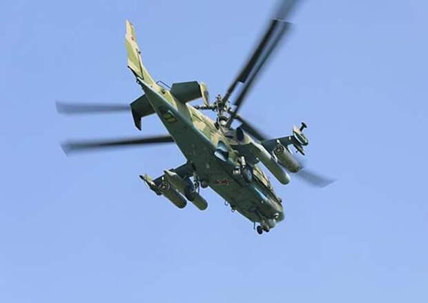 Экипажи вертолётов Ка-52 «Аллигатор» ВВО подавили средства ПВО условного противника в Приморье