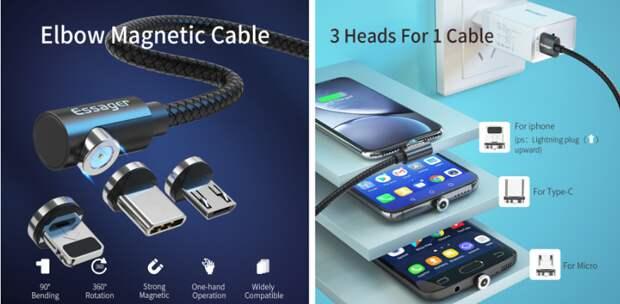 Самые продаваемые кабели, адаптеры изарядки наAliexpress