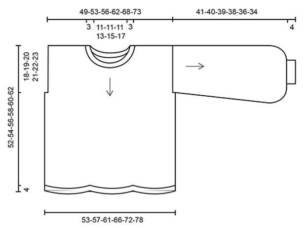 Джемпер волнистым узором от Drops Design