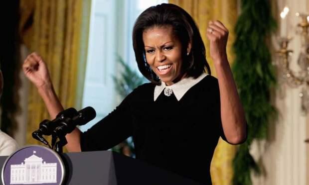 Мишель Обама удивила сторонников Клинтон своим танцем