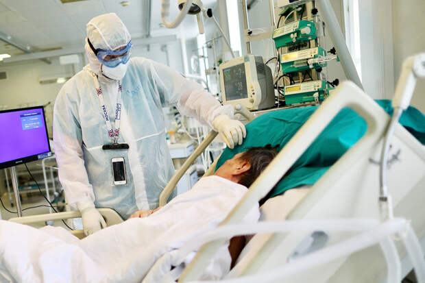 В России за сутки выявили 8792 заражённых COVID-19