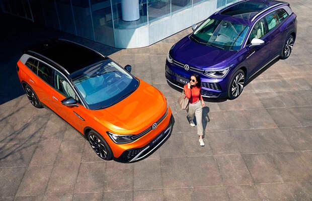 У Volkswagen появился 3-рядный электрокроссовер