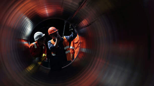 Рабочие на строительстве газопровода Северный поток-2 - РИА Новости, 1920, 16.09.2020