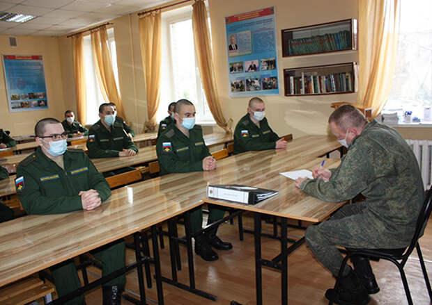 В 15 армии ВКС ОсН продолжается весенний призыв граждан на военную службу