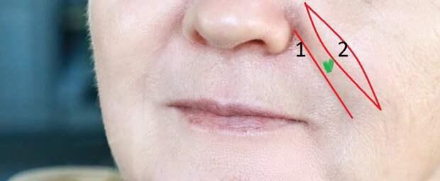 Носогубная складка: маскировка