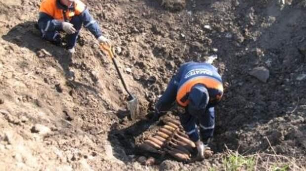 ВРостовской области сначала года нашли 19 боеприпасов ВОВ