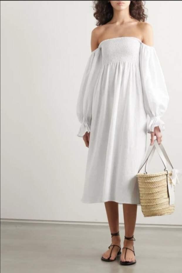 Белые летние платья сегодня и 110 лет назад