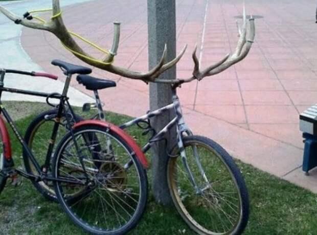 Насадка для тех, кто не любит пешеходов на велодорожках WTF?, wtf, велосипеды, необычное, подборка, странное, транспорт