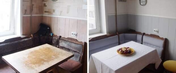 Вот что такое бюджетный косметический ремонт. Обновление старой кухни всего за 5000 рублей