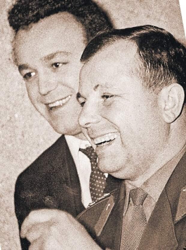 С Юрием Гагариным. 1960-е годы
