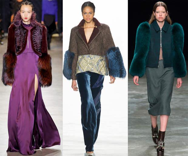 Модная тенденция меховые рукава