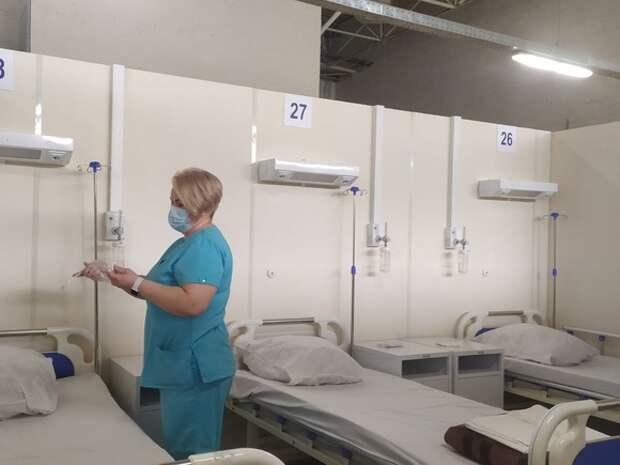 Временный госпиталь в «Ленэкспо» в Петербурге начинает прием пациентов