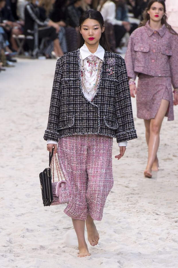 широкий пиджак шанель