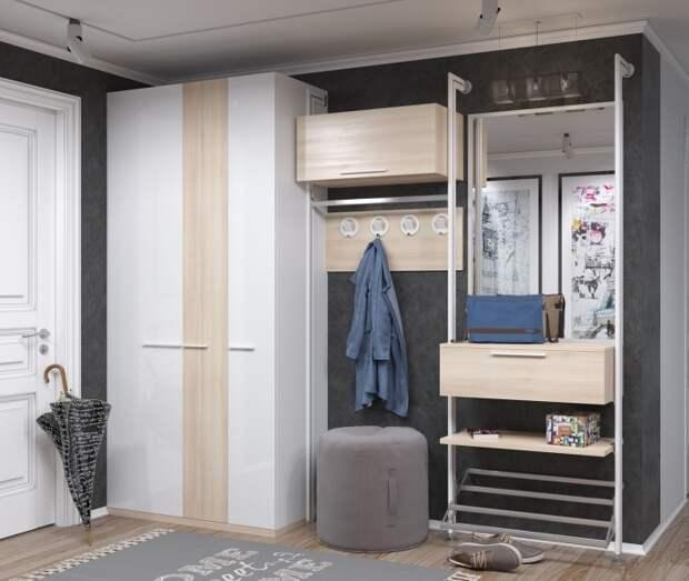 Вместительный шкаф для прихожей. \ Фото: mebel.ru.