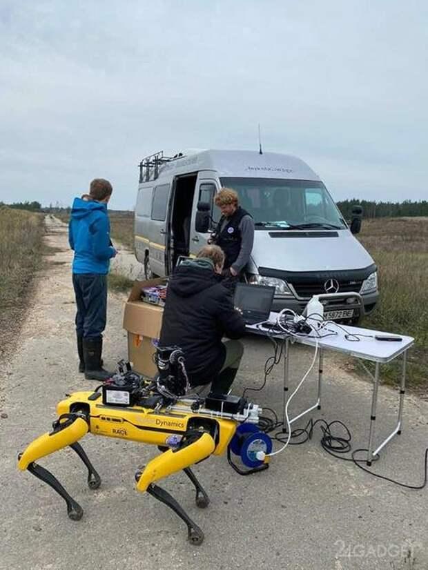 Собакообразный робот Spot Boston Dynamics провел разведку в Чернобыльской зоне