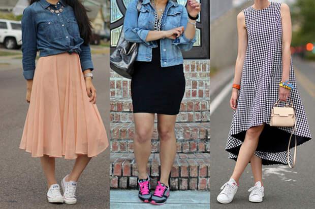 Кроссовки с платьем: Допустимо ли такое сочетание?