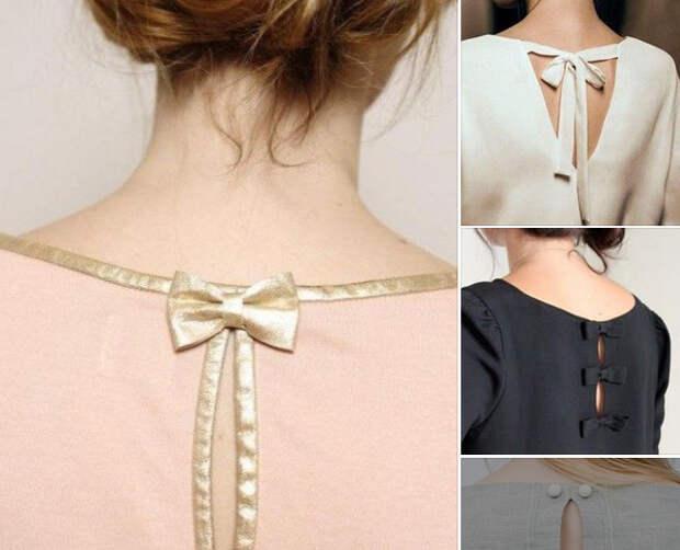 Красивые спинки на платьях. Интересные идеи