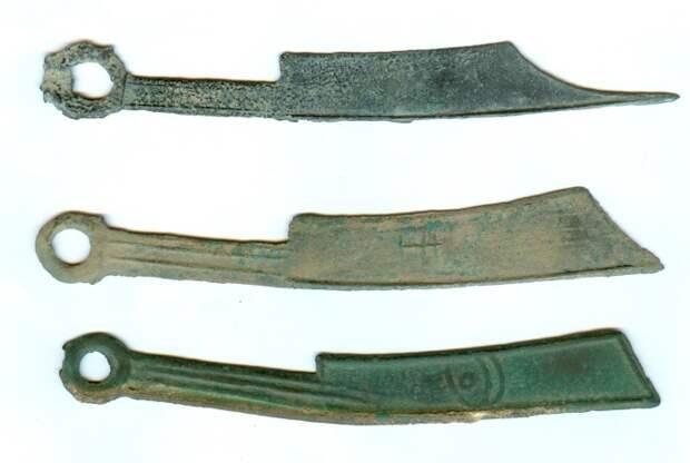 Деньги-ножи династии Чжоу.