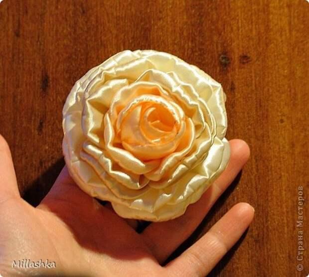"""Сегодня хочу показать вам, дорогие жители СМ, МК """"Пышная роза"""" или, как называю ее я, """"Роза для ленивых"""". Спросите: """"Почему для ленивых?"""". Отвечу: """"Да потому-что проще некуда!Быстро и ооочень красиво!"""" фото 19"""