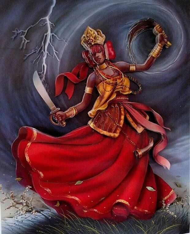 Одно из современных изображений богини-царицы Ойи.