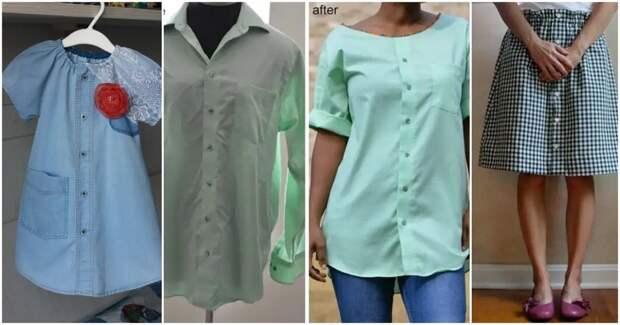 Отличные и стильные идей по переделке обычной рубашки