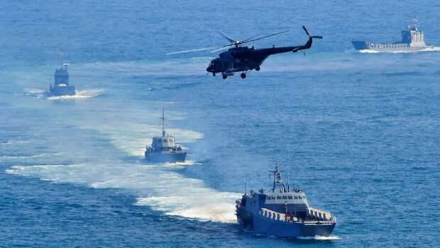 Военно-морские учения России и Китая. Источник изображения: https://vk.com/denis_siniy