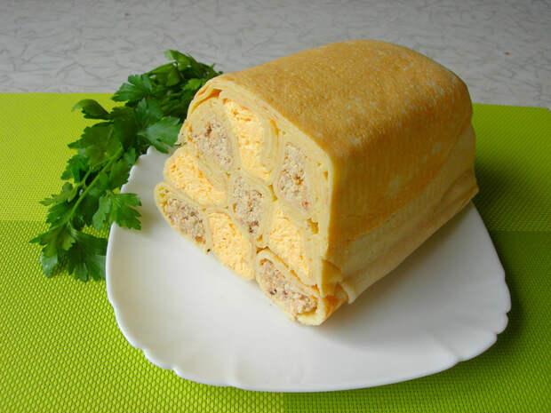 Шахматный блинный пирог без выпечки! Блины, Блинный торт, Блинный пирог, Закуска, Рецепт, Еда, Кулинария, Видео, Длиннопост