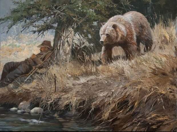 Мы вас сюда не звали Дикая природа, Хищник, Бурые медведи, Гризли, Леопард, Слоны, Лось, Белый медведь, Нежданчик, Рисунок, Длиннопост, Лев
