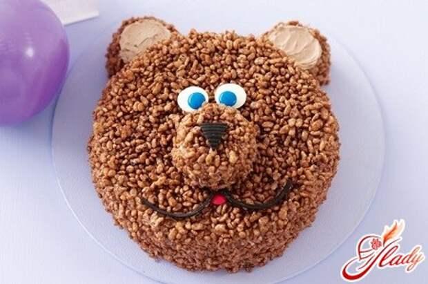 Торт «Мишка» для маленьких сластен
