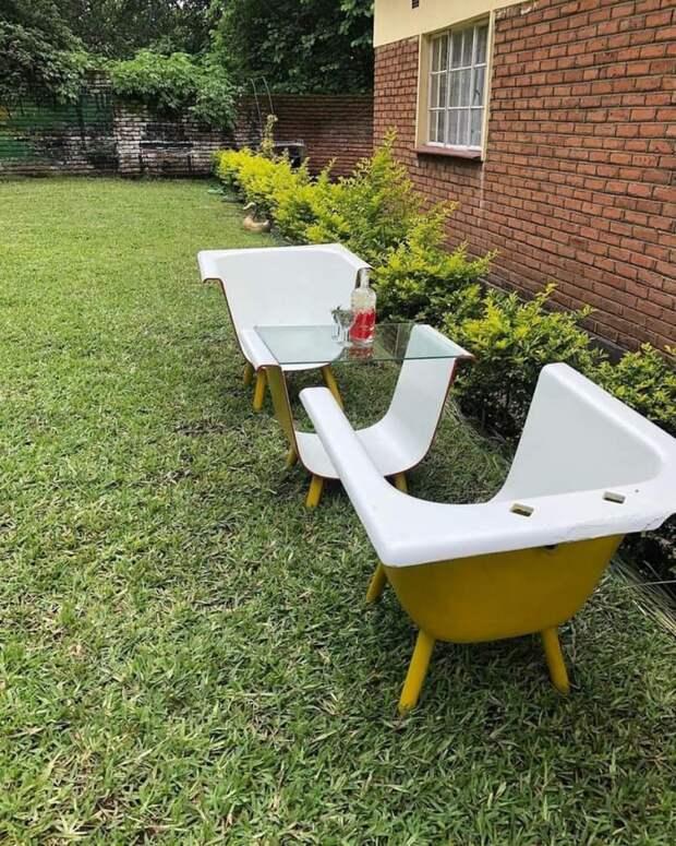 Монументальная садовая мебель из чугуна (diy)