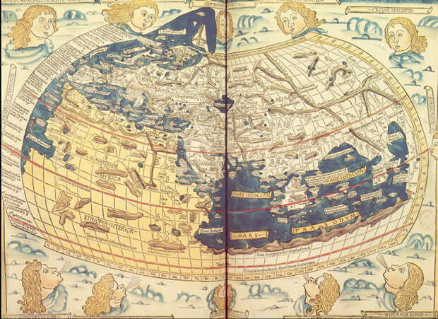 Древняя карта Птолемея