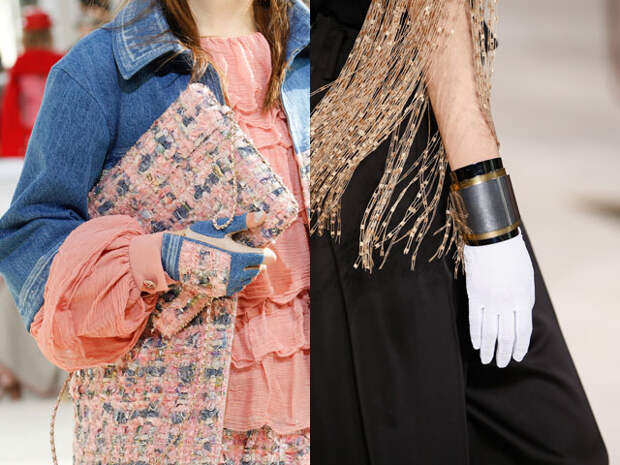 Тканевые перчатки сезона осень-зима