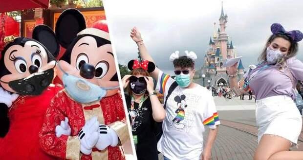 На Мики Мауса и Дарта Вейдера наденут маски: решено открыть Диснейленд для туристов