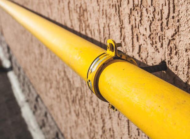 Жёлтая газовая труба