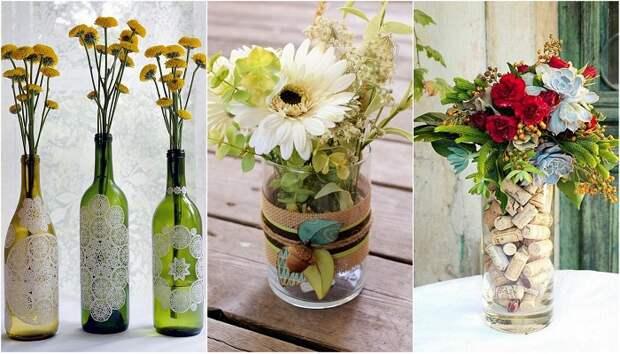 Прекрасные вазы своими руками, что станут просто находкой.