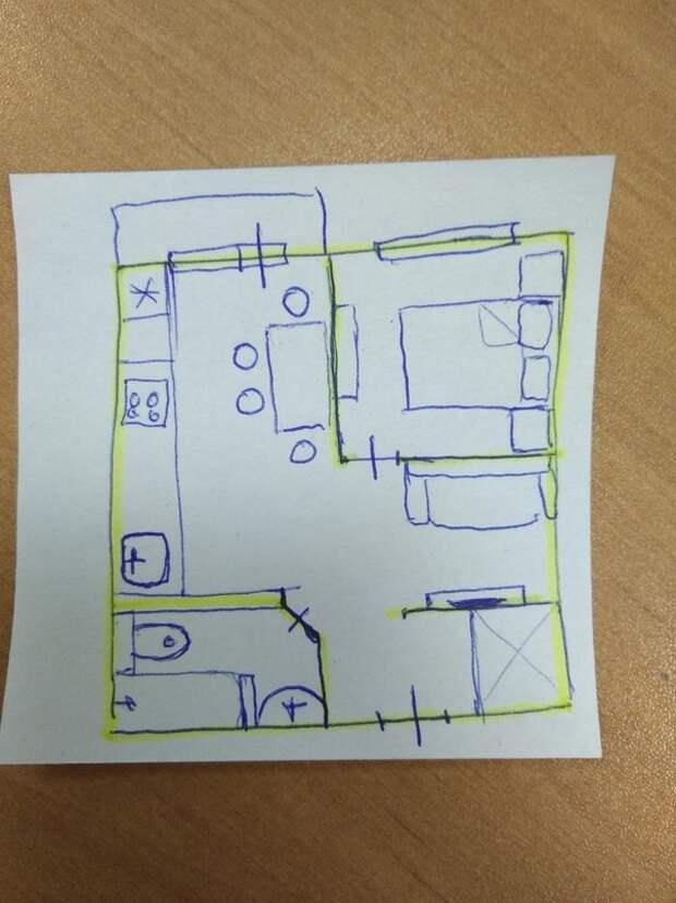 Оцените, как перепланировали однокомнатную квартиру! Автор: Витковская  Елена