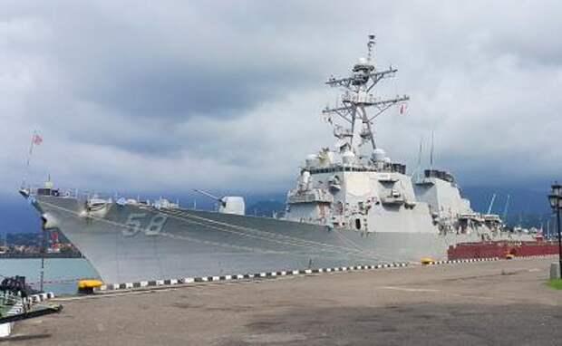 На фото: эсминец ВМС США USS Laboon