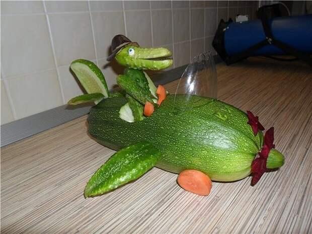 Поделки из овощей в садик