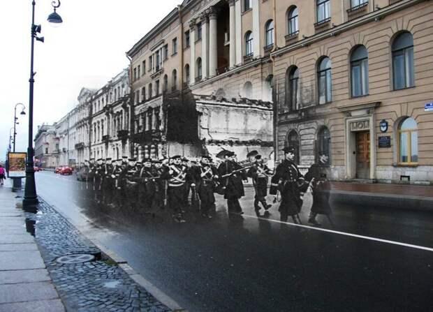 Ленинград 1941-2009 Дворцовая набережная 10. Краснофлотцы блокада, ленинград, победа