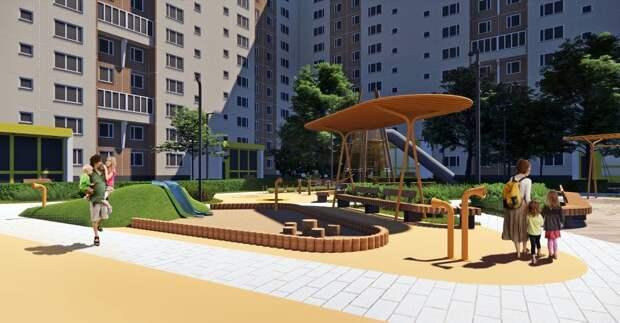 Для детей на обновленной игровой площадке появится много интересных объектов. Фото: пресс-служба проекта «Мой район»