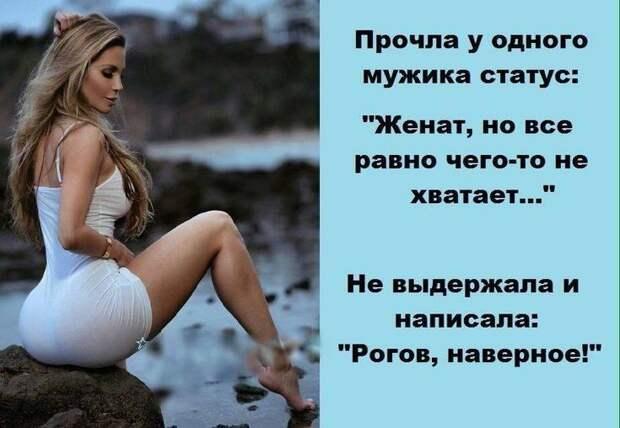 Если мужчина перестаёт каждый день бриться, говорить комплименты, менять носки, извиняться, дарить цветы, всё, успокойся — он твой...