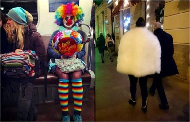 Эффектные наряды петербургских модников.