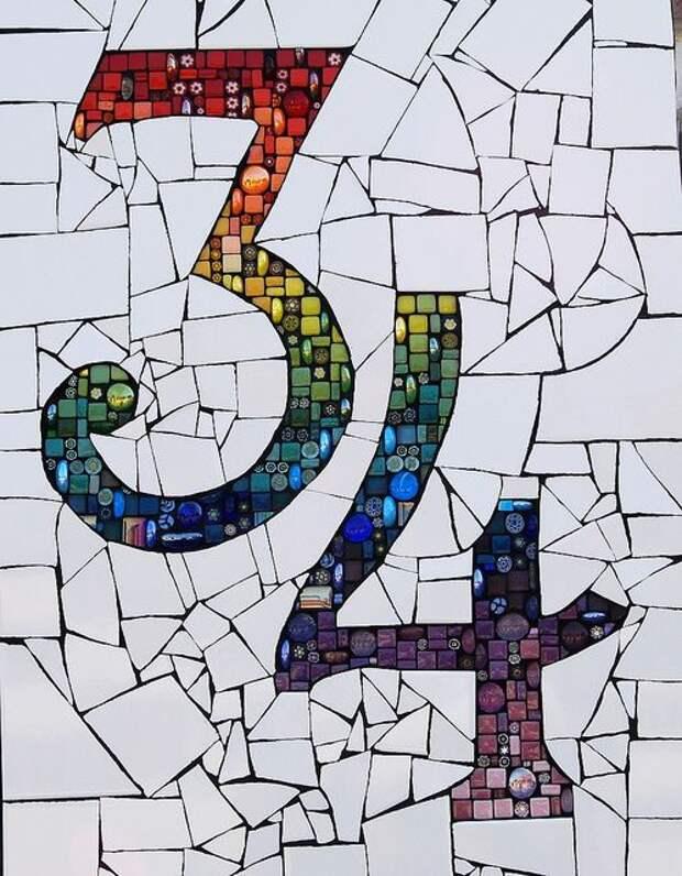 необычная мозаика