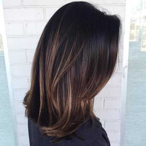 Балаяж на средние волосы: фото 1