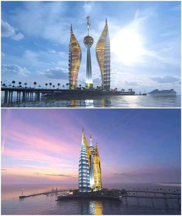 Башни от российского архитектора могут стать самым высоким комплексом в Африке